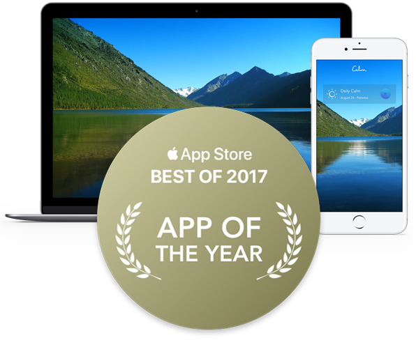 Calm, App Store Best of 2017, App of the Year